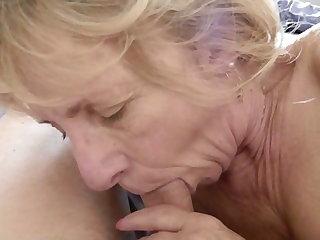Sexy Granny Sensual Sucking