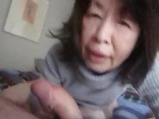 Asian Granny Blowjob 2