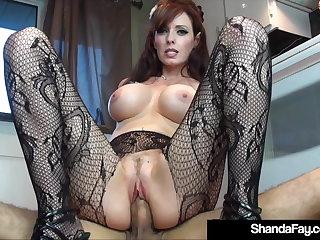 Canadian Sex Crazed Cougar Shanda Fay Fucks Hubby On Kitchen Floor!