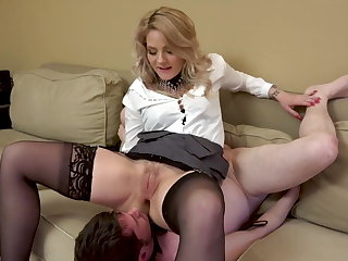 Femdom Lucky cuck gets to clean up