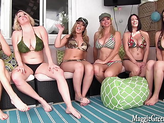 Arab 6 Girl Neighborhood Orgy! Maggie Vicky Jelena, Cleo, Carmen