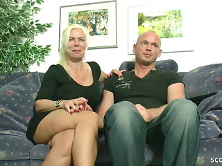 German GERMAN MOM FUCK WITH STEP SON AND HIS BEST FRIEND IN MMF