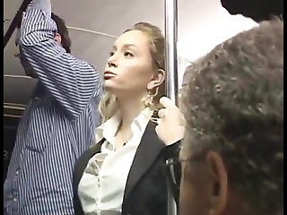 Maid Blondie Groped On the bus