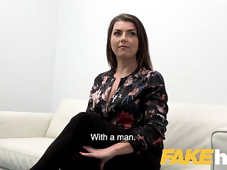 Femdom Fake Agent Hot slow sex with hot tight shaven pussy