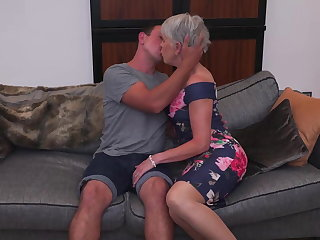 CFNM Sexy granny gets taboo sex from boy