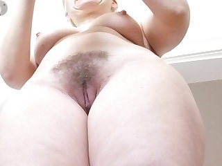 Tits dressed hot blond hairy