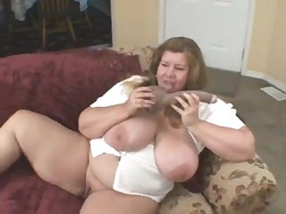 Lactating Curvy Sharon - A Taste Of Chocolate