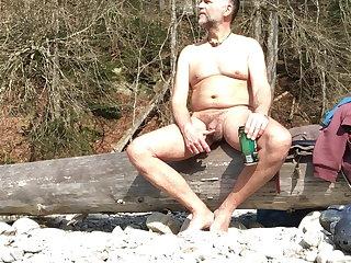 Beach nudist orgasm in public