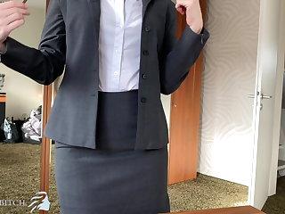 Pregnant boss impregnates willing secretary - business bitch