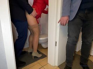 Danish Boss fucks secretary - husband watches, business-bitch